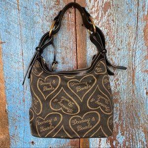 Dooney & Bourke Black Heart Signature Shoulder Bag